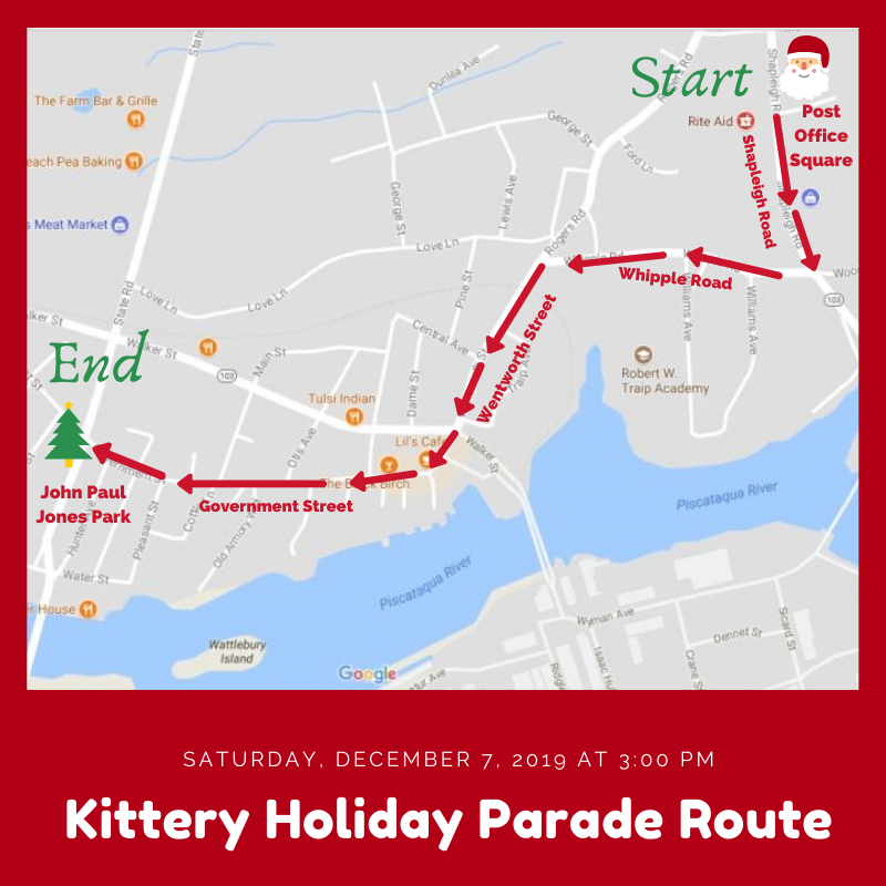 Kittery Holiday Parade Route