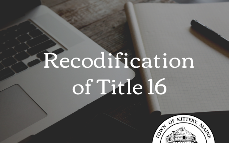 Recodification of Title 16 Kittery