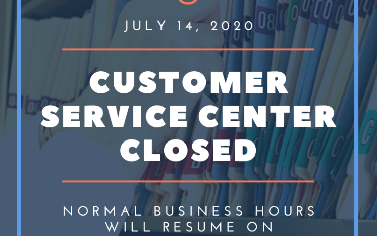 Kittery Customer Service Center Closed July 14 2020