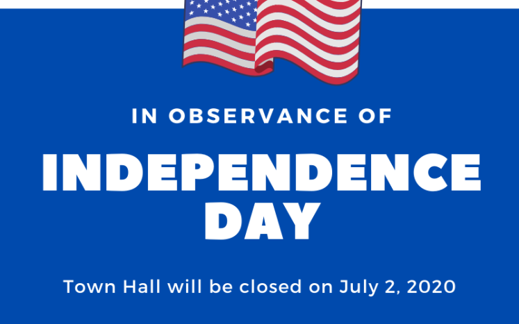 Town Hall Closed July 2 2020